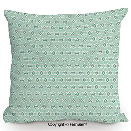 FashSam Decorative Throw Pillow Cover Stylized Stars Vintage Pattern Retro Colors Seventies Style Decorative for Pillow Cover for Living Room(14