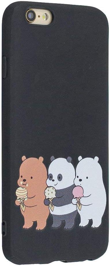 Coopay Compatible with iPhone 6S Plus Custodia Blu Navy Motivo Orso Candy Animale Cover per iPhone 6 Plus Silicone Antiurto AntiGraffio Indietro Bordo ...