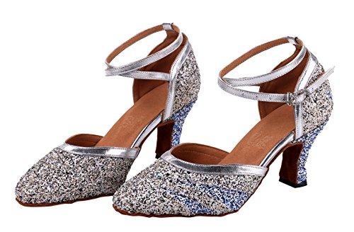 Multicolored Shoes Black Sequin Criss Women's Glitter Dance Cross Honeystore 6pqgXwx4p