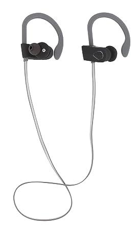 Auriculares inalámbricos y ergonómicos con Bluetooth 4.1 y micrófono - Resistente a Salpicaduras y Sudor,
