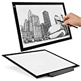 quilting books using panels - Flexzion A3 Artist Light Box Tracing Table Pad Drawing Board Tablet - Portable Ultra-Thin LED Illumination w/ Multi-Level Dimmable Brightness for Stencil Tattoo Drawing Design Sketching Animation