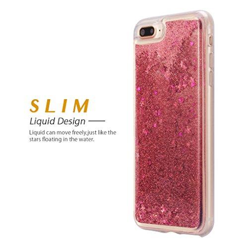 detailed look fc1e0 2857e iPhone 7 Plus/ iPhone 8 Plus Case, ESEEKGO Floating Glitter Case for ...