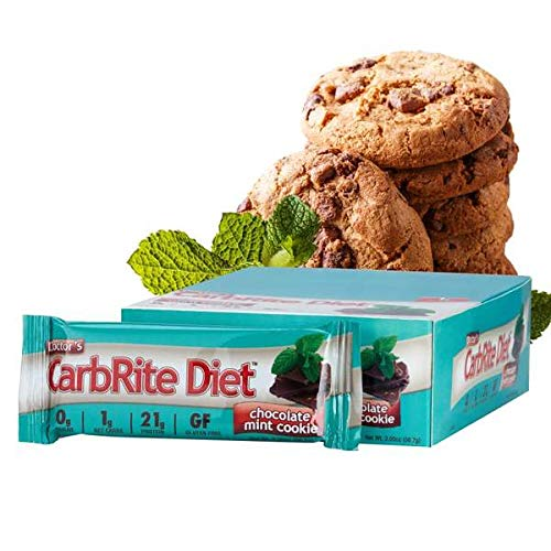 Doctor's CarbRite Diet Sugar-Free Protein Bar - Chocolate Mint Cookie (12 Bars) by Doctor's CarbRite