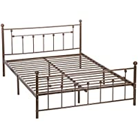 Mr Direct Full Size Bed Frame Stable Metal Slat Support No Box spring needed with Headboard