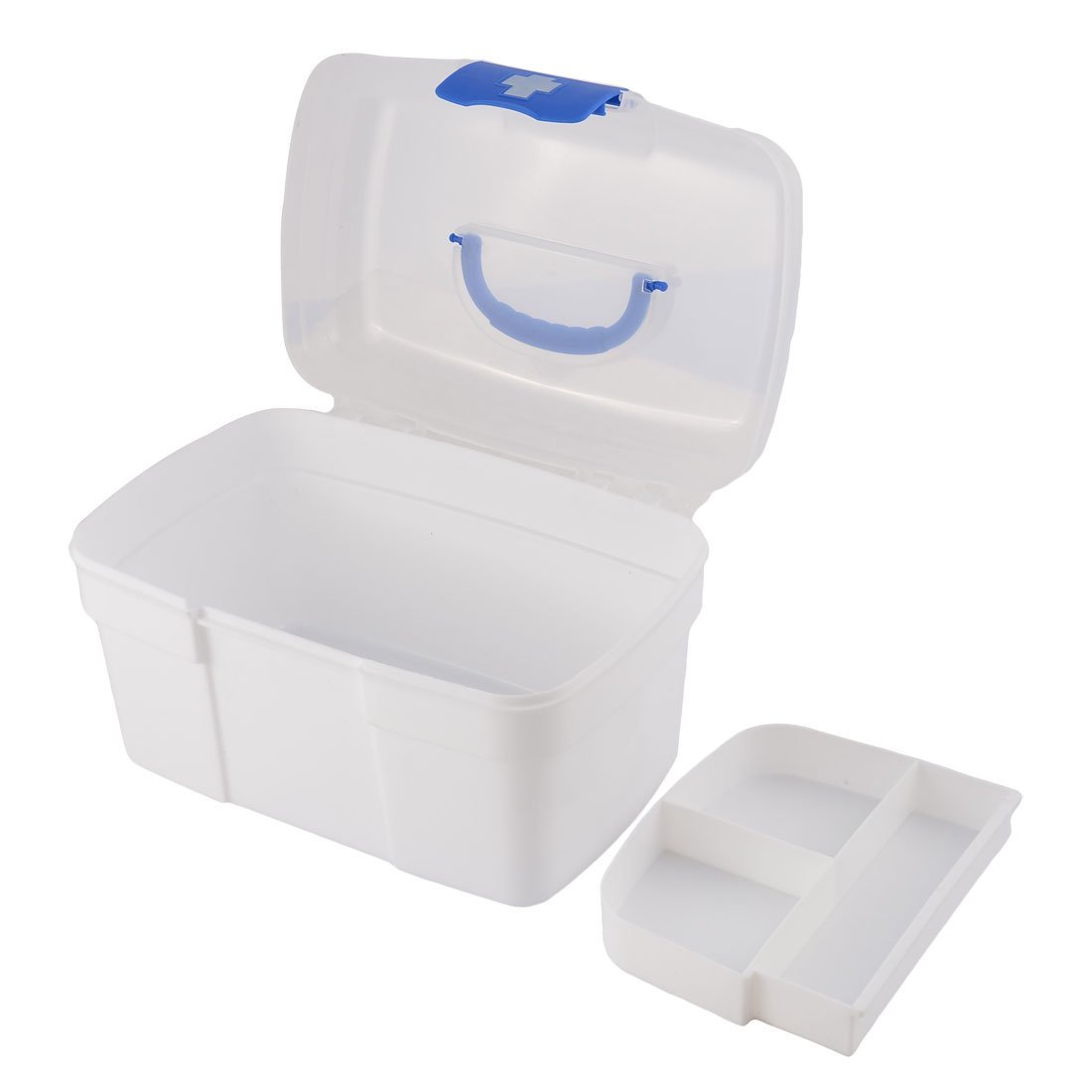DealMux Plastic Household Pill Tablet Storage Box First Aid Case Medicine Container