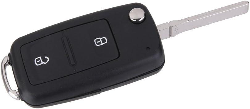 Generic 1x Ersatz Schlüsselgehäuse 2 Taste Autoschlüssel Klappschlüssel Schlüssel Fernbedienung Funkschlüssel Für Vw Transporter T5 Golf Auto