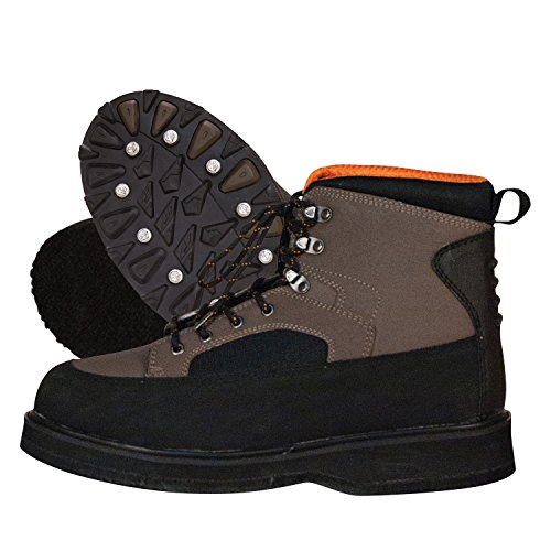 Ultralight Wading Shoe (Frogg Toggs 2512225-12 Amphib II Rubber Nonslip Wading Shoe Felt, Black/Brown)