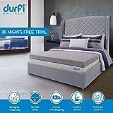 Durfi 8-Inch Orthopedic Single Size Memory Foam Mattress in Grey (72x30x8 Inch, Memory Foam)