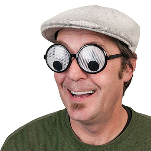 Googly Eyes Halloween Costume (Ponce Fashion Googly Eyes Goggles Shaking Eyes Party Glasses and Toys for Party Cosplay Costume and Halloween Party Decoration)