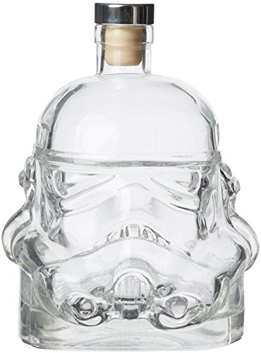 FairySu Stormtrooper Star Wars Decanter Rogue One The Force Awakens Helmet Clear Glass Whisky Brandy Liqueur by Fairysu
