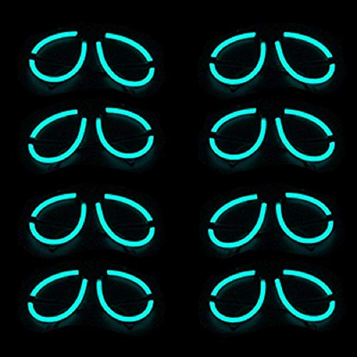 Lumistick Aviator Glow Eyeglasses   Light Up Neon Glow Eyewear   Illuminating Eye-catching Party Wear   Non-Toxic & Kids Safe Light Up Fluorescent Specs with Connectors