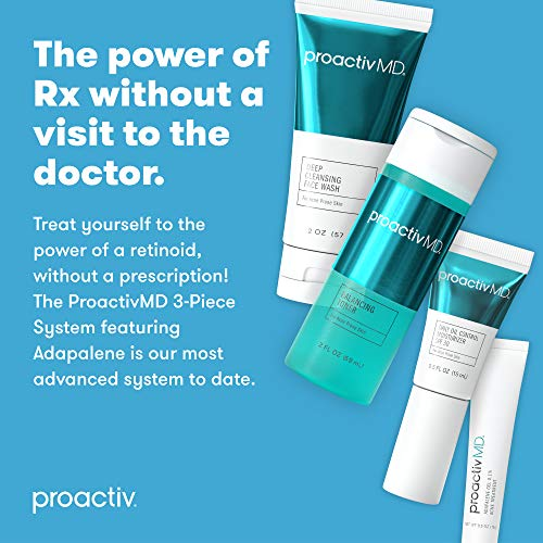 ProactivMD Adapalene Gel Acne Kit – Complete Retinol Moisturizer and Toner Combo Kit with Deep Cleansing and Exfoliating…