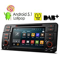XTRONS Quad Core 7 Android 5.1 Lollipop Car Stereo Multi-touch Screen Radio CD DVD Player GPS 1080P Video Screen Mirroring OBD2 Wifi CANbus Tire Pressure Monitoring for BMW E46/320/325