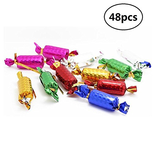 Candy Christmas Tree Decorations - EBTOYS Christmas Tree Decoration Foam Hanging Candies for Xmas Tree Oraments,48 Pack,Assortment