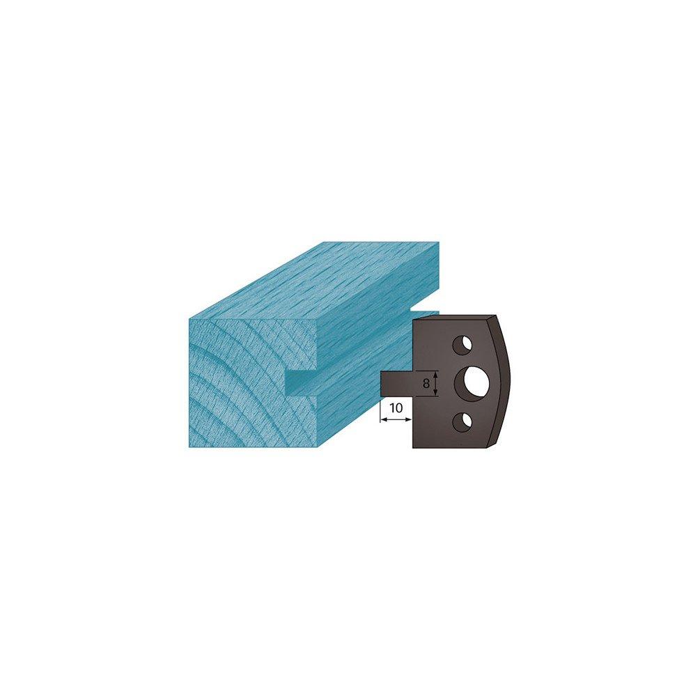 Diamwood Platinum - Jeu de 2 contre-fers profilé s Ht. 38 x 4 mm rainure 8 mm A94 pour porte-outils de toupie - Diamwood Platinum