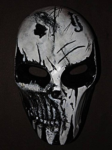 Custom Army of Two Halloween Costume Cosplay BB Gun Paintball Airsoft Mask R2 White Punisher MA30 am ()