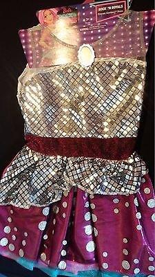 Rock'n Royals Costume (Barbie Rock N Royals Pop Star Pink Silver Pretend Play Dress / Halloween Costume)