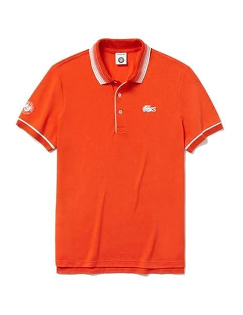 Polo LACOSTE Roland Garros Naranja L Naranja: Amazon.es: Zapatos y ...