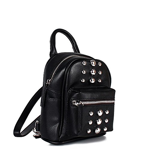 Steve Madden Bjenny Stud Mini Backpack - Zaino piccolo nero con borchie