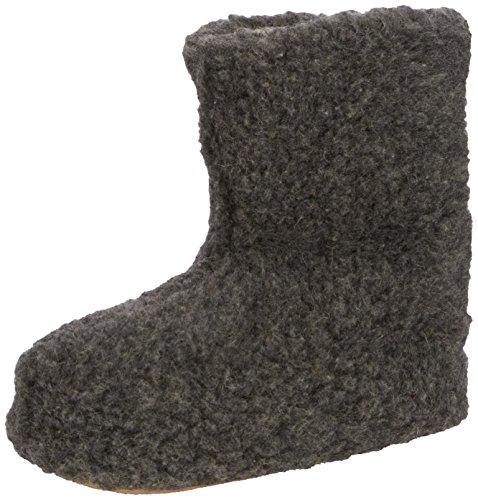 Woolsies Yeti Natural Wool Slipper Booties - Zapatillas de casa unisex Grey (Graphite Grey)