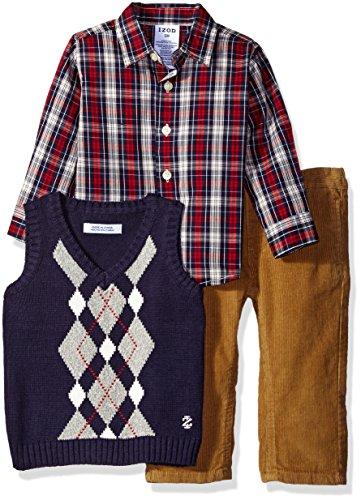 Izod Argyle Sweater - Izod Baby Long Sleeve Argyle Vest Sweater Set, Night, 18 Months