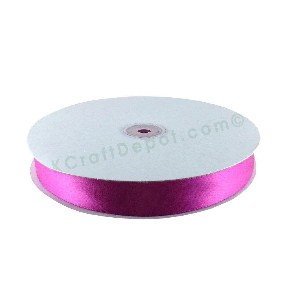 7/8(23mm) Satin Ribbon Single Faced 100 Yards - Fuschia by KC Accessories   B00MB936N6