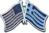 AES USA American & Greece Country Flag Bike Hat Cap lapel Pin