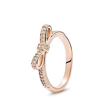 f846a4f34 Amazon.com: PANDORA Sparkling Bow Ring, PANDORA Rose, Cubic Zirconia, Size  5: Kitchen & Dining
