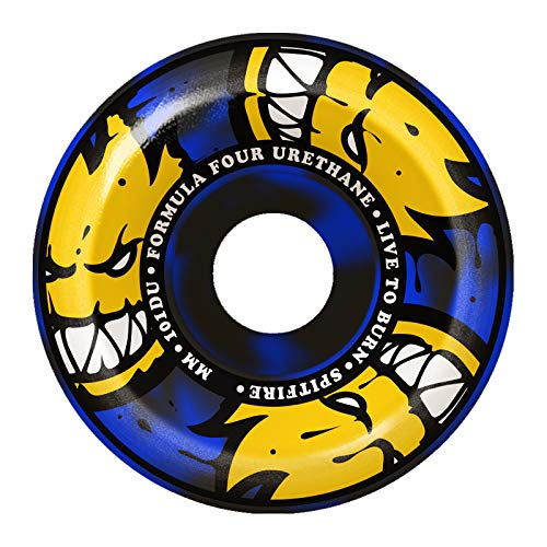 ショルダー罰するバルセロナスピットファイア (SPITFIRE) F4 101 AFTERBURNER CONICAL FULLS BLUE/BLACK SWIRL 54mm
