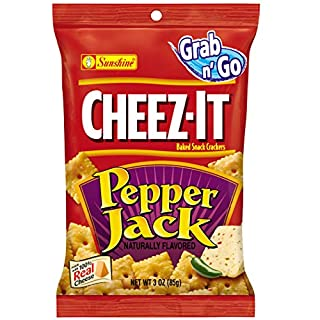 Cheez-It, Baked Snack Cheese Crackers, Pepper Jack, 3oz Bag(Pack of 36)