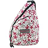 Urban Sport Pink and Gray Daisy Flower Trail Maker Classic School Book Sling Bag, Bags Central