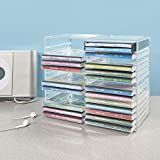 Stackable Clear Plastic CD Holder - Holds 30