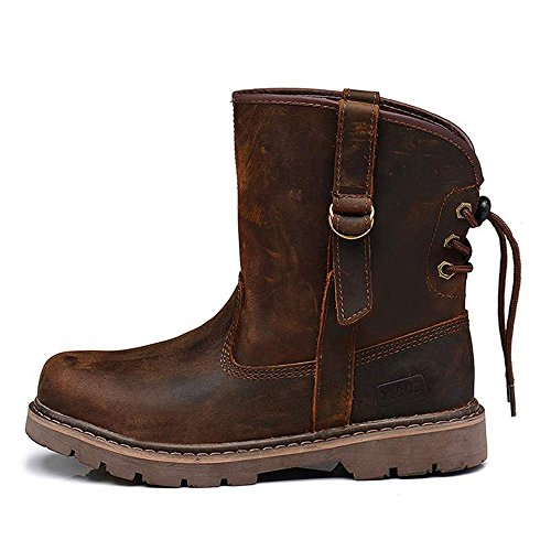 Boot for Brown Boots Genuine Leather Construction Chukka Work Rubber Men's q76fCw4