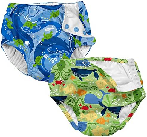 i play. Baby & Toddler Reusable Absorbent Swim Diaper (Pack of 2)