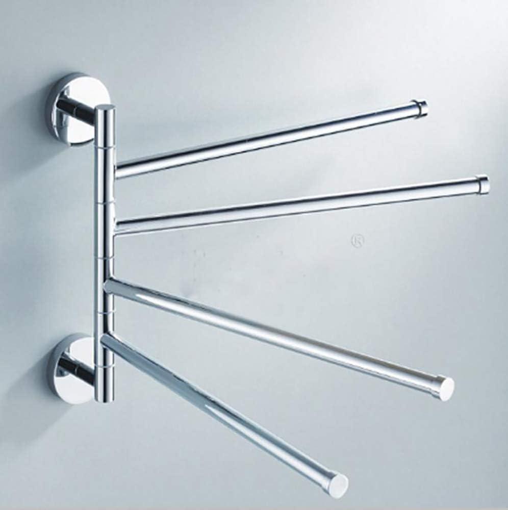 TEHWDE Portasciugamani da Muro 180/° Rotazione Design Porta-Asciugamani Girevole per Bagno Bracci Mobili 35cm Accessori per Il Bagno Lega di Zinco Acciaio Inossidabile