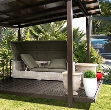 Pergola terraza couverte Taupe: Amazon.es: Jardín
