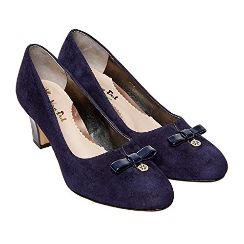 Farnell Dal Van Suede in Patent Courts Midnight PA404xnT