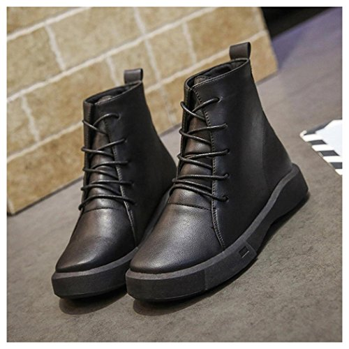Martin Ankle Shoes Womens Boots Fuibo Booties Short Black Booties Snow Boots Winter Autumn Women aqwBB