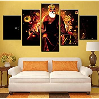 Amazon.com: Large Sikh Canvas Wall Art Pictures of the Golden Temple ...