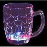 Flashing Panda 16 oz LED Light-Up Multi-Color Flashing Beer Mug