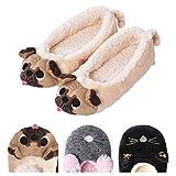 Women's Plush Winter Warm Animal Soft Cute Home Slippers Dog Yellow 9 M US
