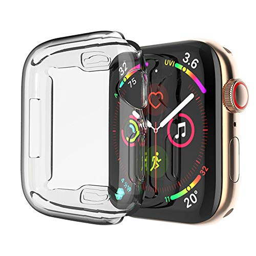Toosunny Case for Apple Watch 4 Case 40mm, 2018 New iWatch Built-in Screen Protector Overall Protective Case TPU HD Clear Ultra-Thin Cover for Apple Watch Series 4 (2 Pack) (40 mm)