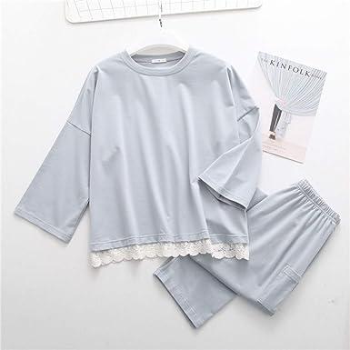 Pijama de algodón de Gran tamaño para Mujer, Conjunto de Pijama de ...