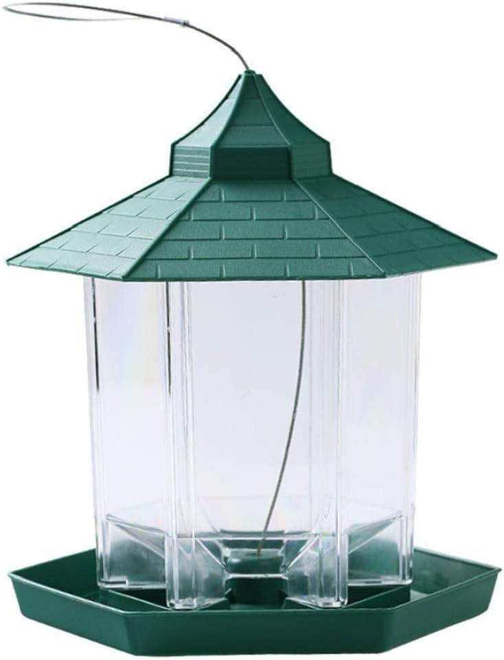 Alimentador de pájaros Silvestres Colgantes Mirador Marco Exterior de Aves envases de plástico decoración de jardín a Prueba de Agua