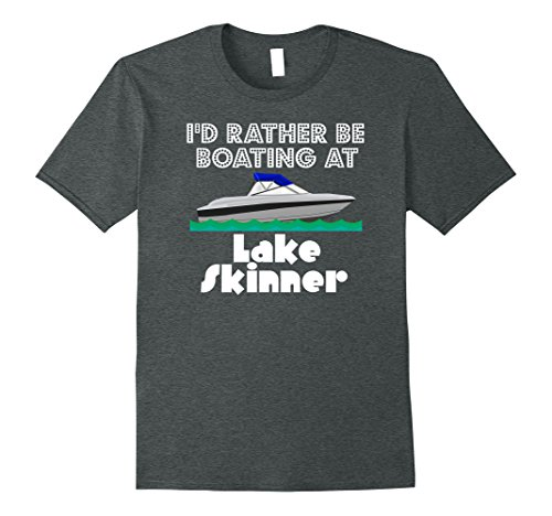 Mens Lake Skinner Boating T-Shirt Ski Skiing Fishing Tee Shirt XL Dark Heather (Skinner Shirt)