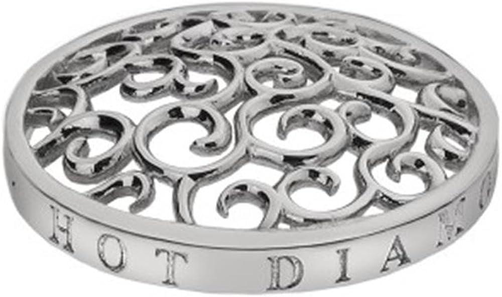 Hot Emozioni Diamantes de plata de ley entorchado en hielo 25 mm moneda EC145
