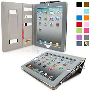 iPad 2 Case, Snugg™ - Executive Smart Cover With Card Slots & Lifetime Guarantee (Blue Denim) for Apple iPad 2