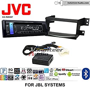 Volunteer Audio JVC KD-R890BT Double Din Radio Install Kit with Bluetooth, CD Player, USB/AUX Fits 2005-2010 Toyota Avalon - (Fits Factory Navigation or JBL Vehicles)