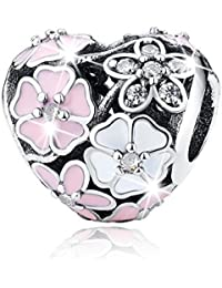925 Sterling Silver Dazzling Daisy Plant Charm Fit Bracelet With CZ DIY Accessories Jewelry