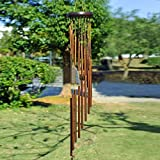 Anewgift Metal Wind Chimes Outdoor-Tuned 35 inche Garden Windchimes Patio Terrace - Best Large Musical Windchime Outdoor Home Decoration (Golden)